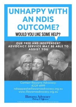 NDIS Appeals Poster Illawarra Advocacy